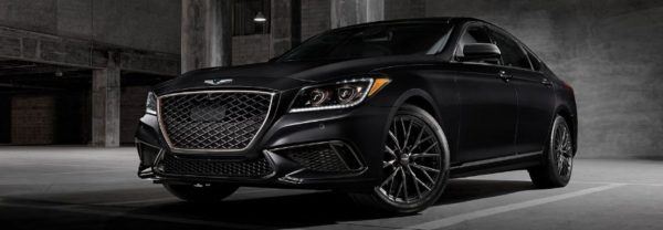 Black 2020 Genesis G80 parked in parking garage
